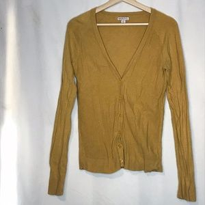 MERONA Yellow Textured Cardigan S
